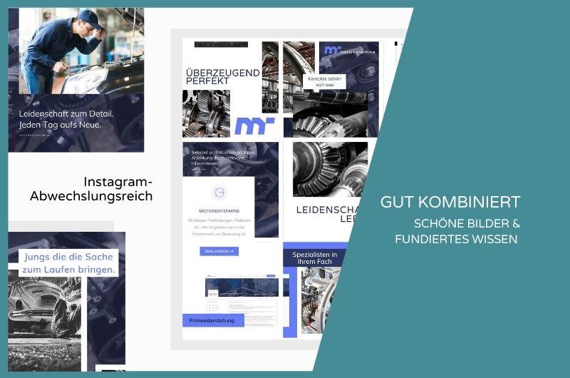 Projektbild Instagram Motorenbranche