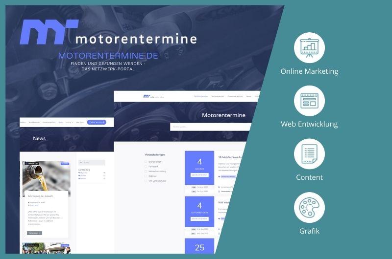 Projektbild motorentermine Plattform